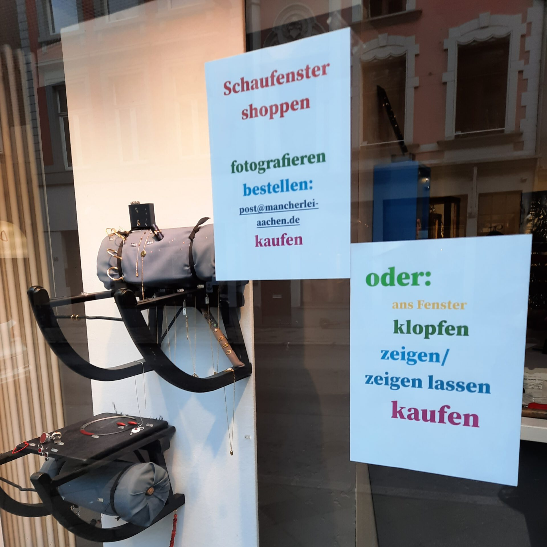Schaufenster-Shoppen