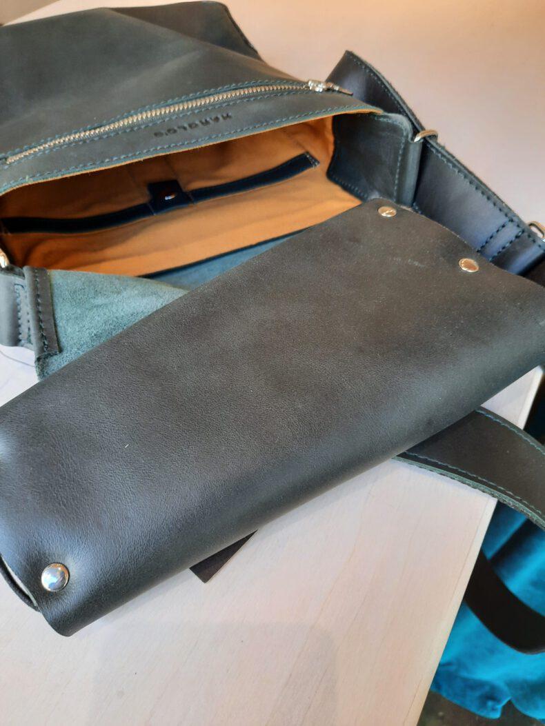 Innenansicht Tasche d-grün