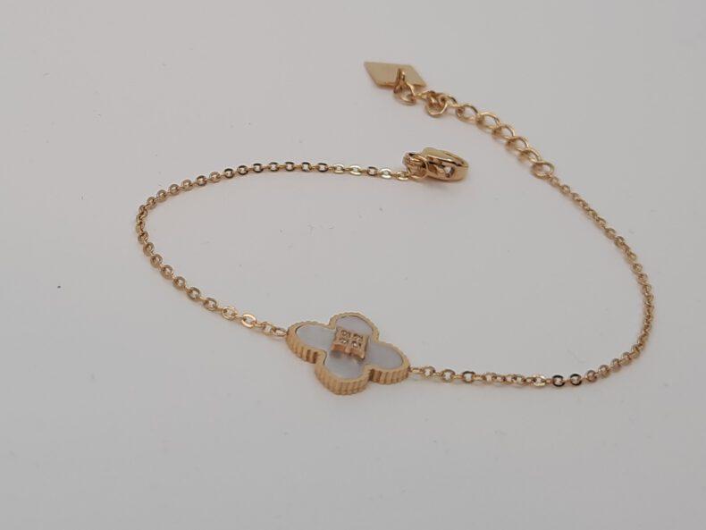 Armband vergoldet Perlmutt
