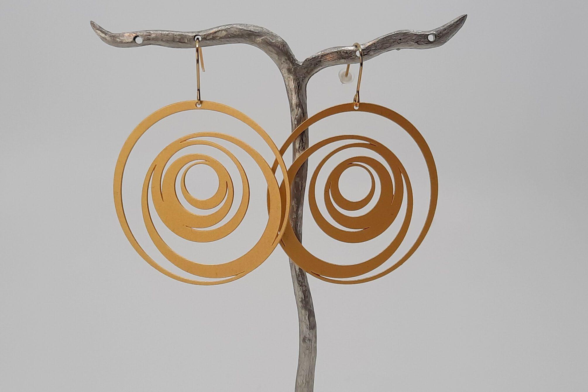 Ohrringe Edelstahl vergoldet