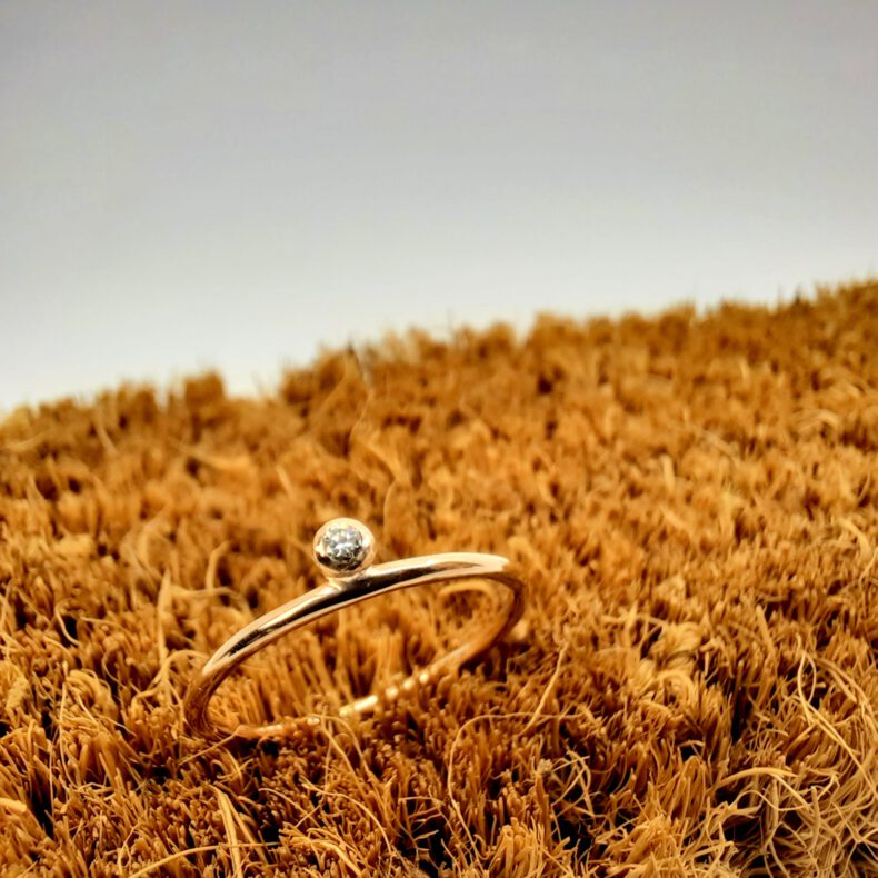 Goldring Glanzpunkt Diamant rosé