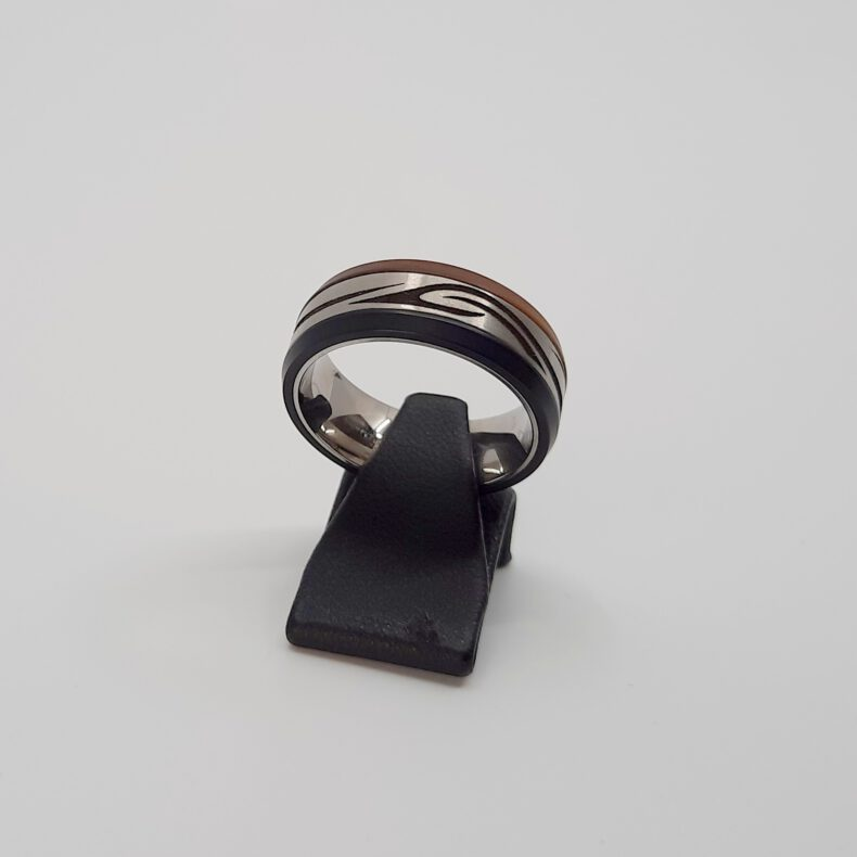 Ring Ernstes Design silk wood Edelstahl